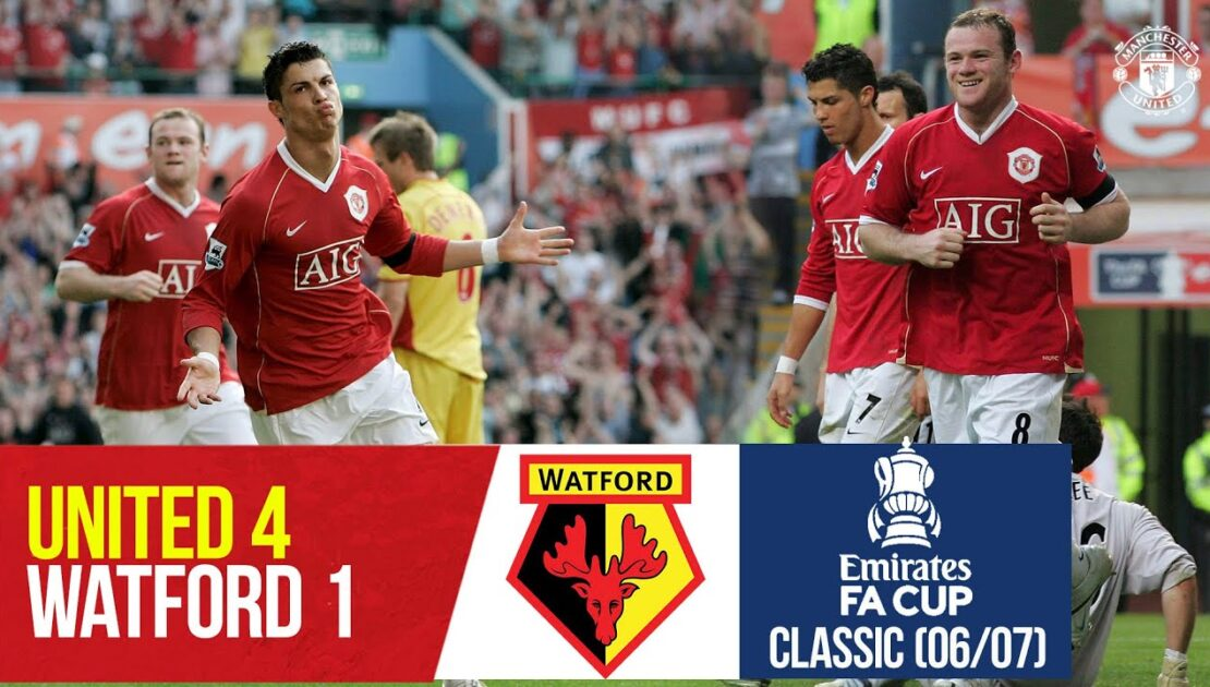 FA Cup Classic | Rooney & Ronaldo swat the Hornets | Manchester United 4-1 Watford (2006/07)