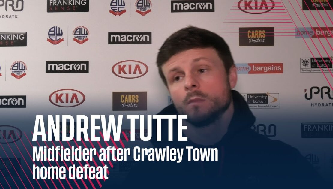 ANDREW TUTTE | Midfielder after Crawley Town home defeat