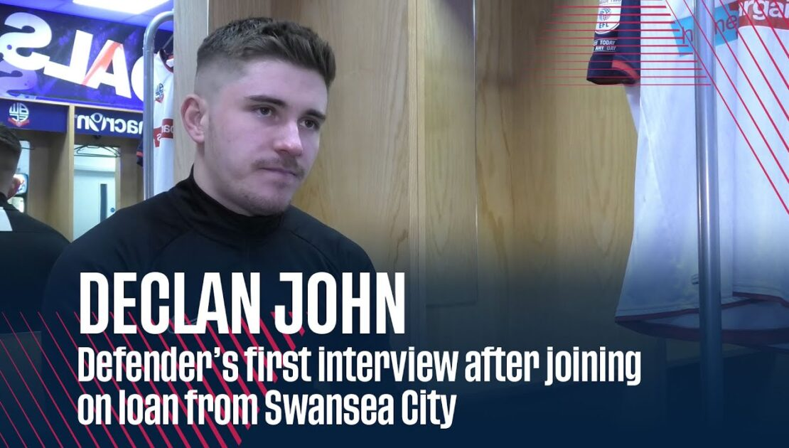 DECLAN JOHN   Defender's first interview after joining on loan from Swansea