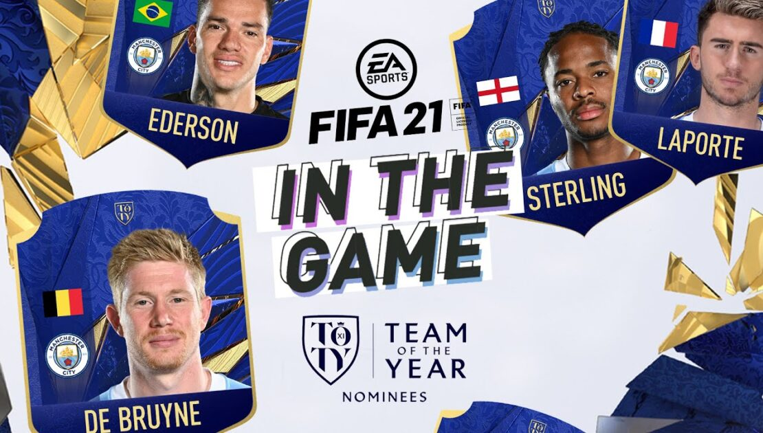 DE BRUYNE, STERLING, EDERSON, LAPORTE IN TOTY | IN THE GAME | MAN CITY