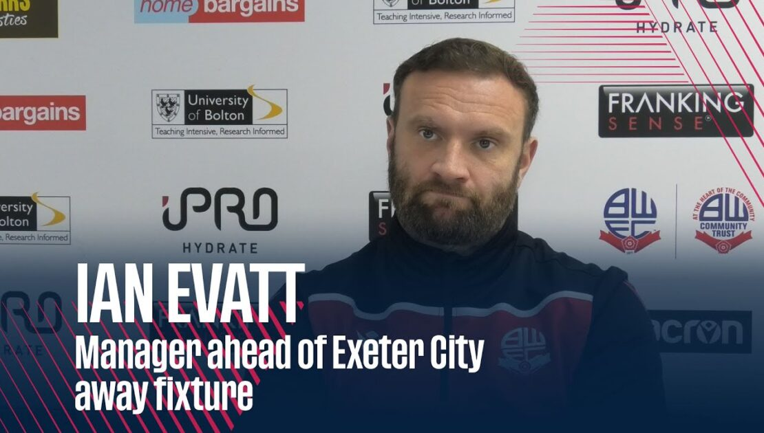 IAN EVATT | Manager ahead of Exeter City away fixture