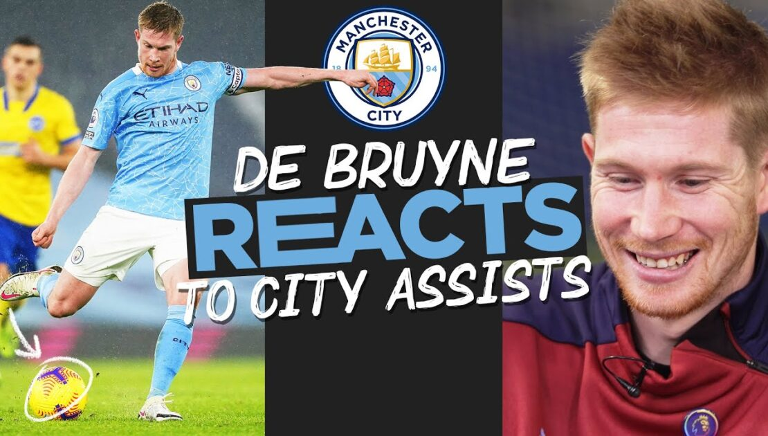 Kevin De Bruyne REACTS to Amazing City Goal Assists!   KDB on Assists