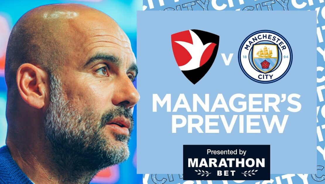 PEP'S PRESS CONFERENCE | CHELTENHAM TOWN V MAN CITY | FA CUP