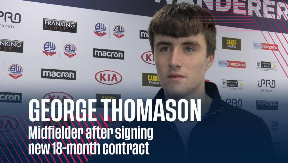 GEORGE THOMASON | Midfielder after signing new 18-month contract