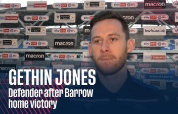 GETHIN JONES | Defender after Barrow home victory