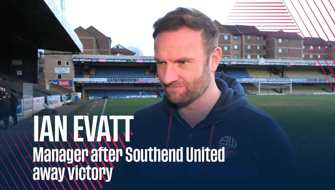 IAN EVATT | Manager after Southend United away victory