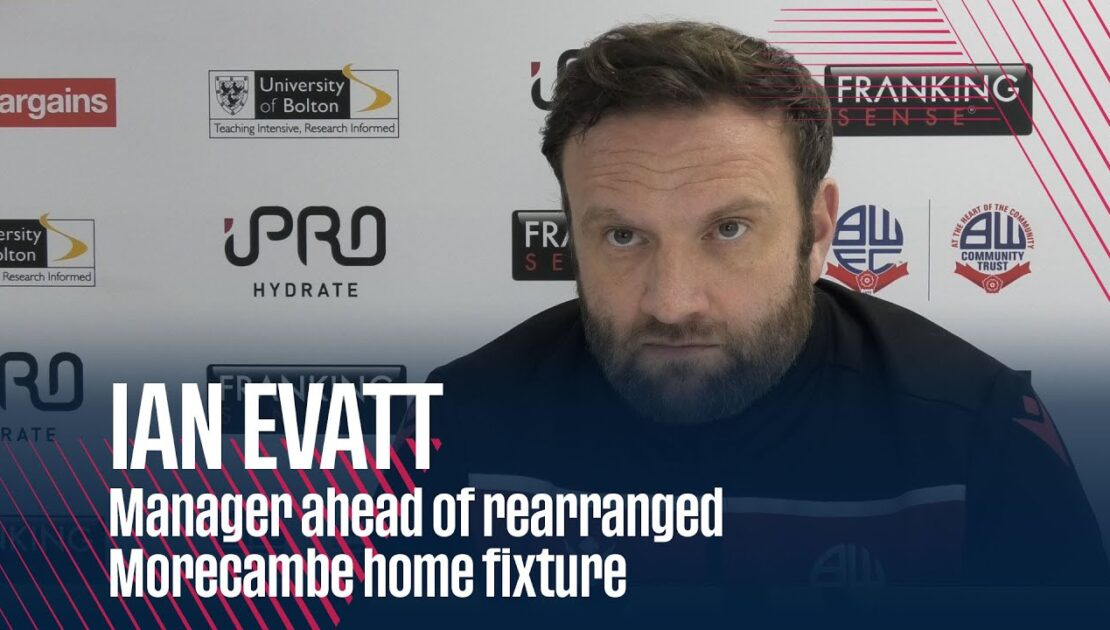IAN EVATT | Manager ahead of rearranged Morecambe home fixture