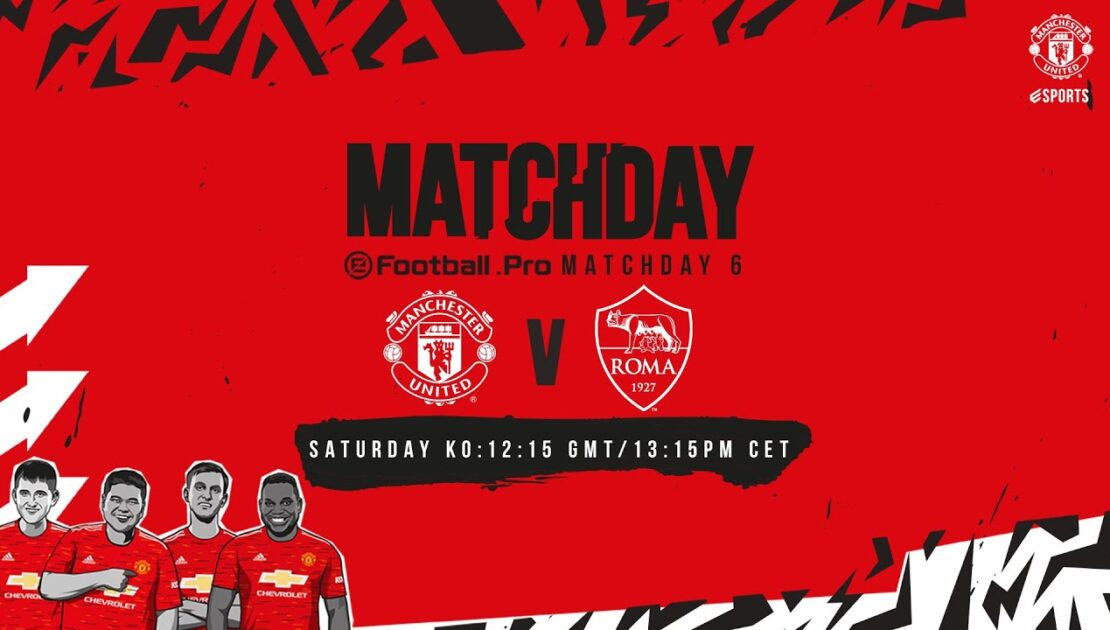 esports | eFootball.Pro | Manchester United v AS Roma | LIVE SAT 12:15pm GMT 13:15pm CET | PES2021