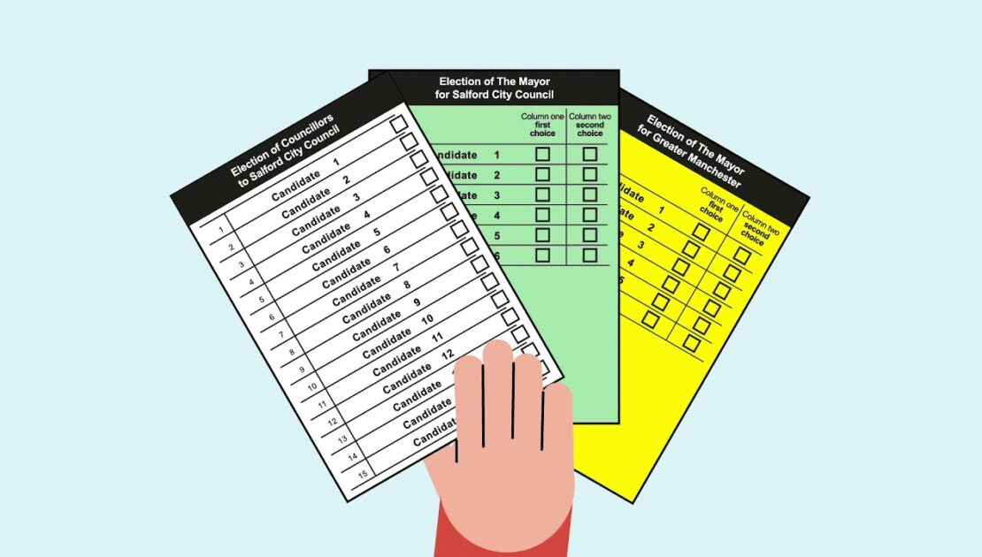 Ballot papers explained for Salford's three elections May 2021