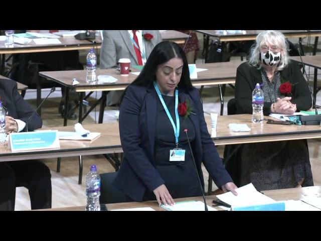 Council Leader Arooj Shah's speech at Annual Council May 19 2021