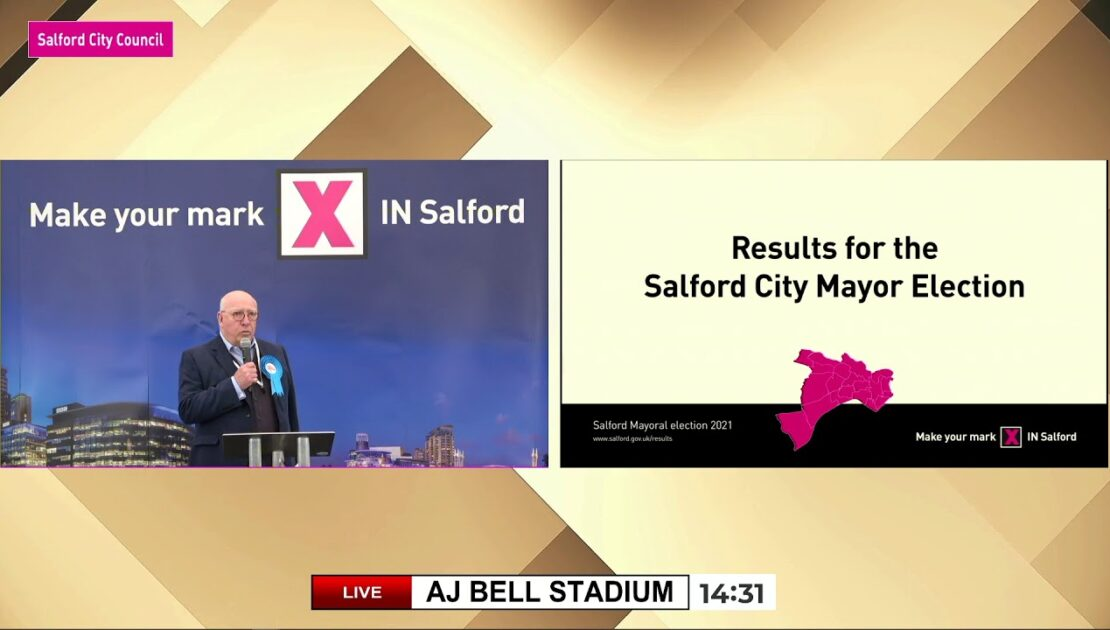 Live coverage of the Salford City Mayor count – Saturday 8 May 2021
