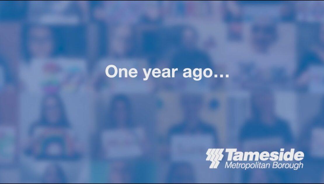 Lockdown anniversary video of thanks #ProudTameside