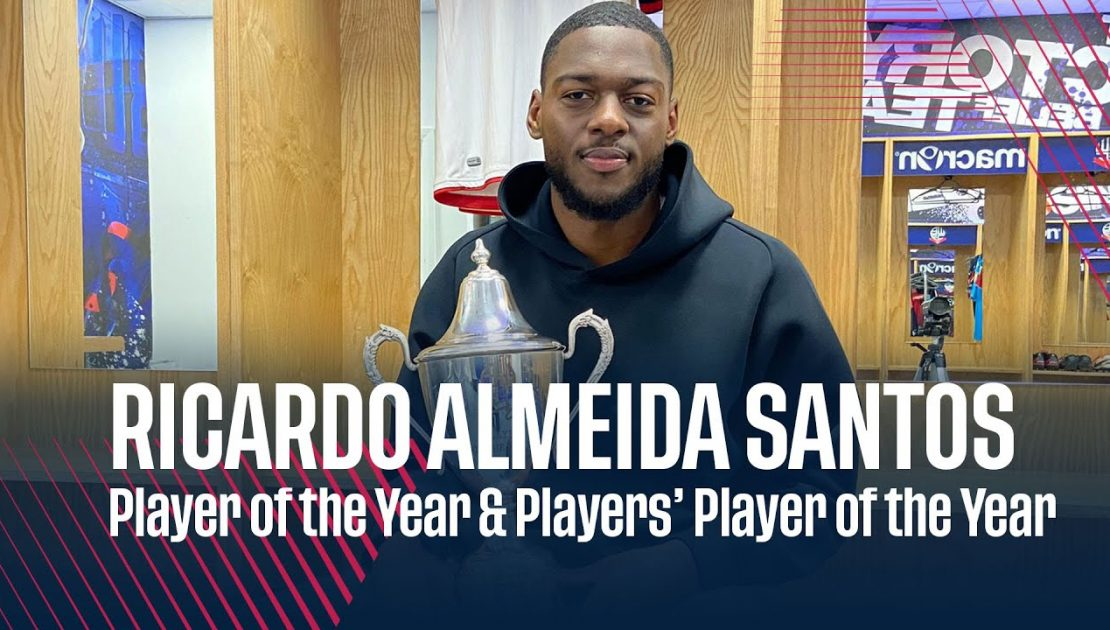 RICARDO ALMEIDA SANTOS   Player of the Year & Players' Player of the Year