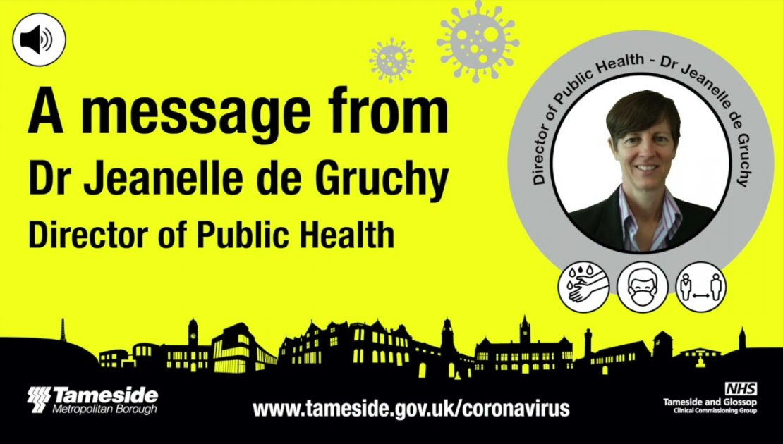 A message from Director of Public Health, Dr Jeanelle de Gruchy
