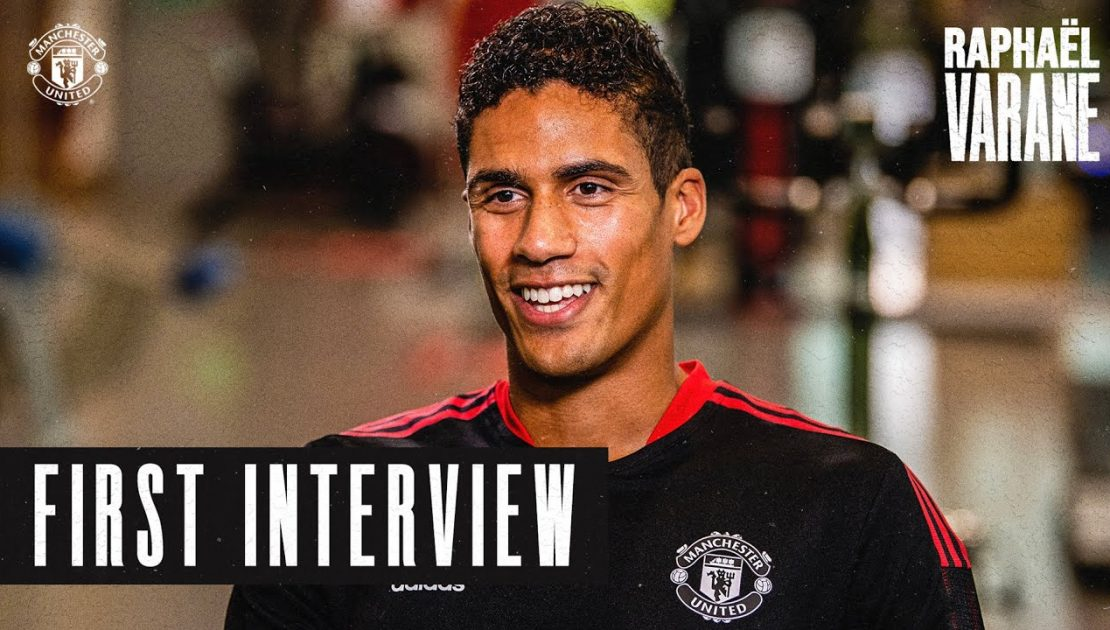 """""""I'll do everything possible to win trophies""""   Raphael Varane's first Manchester United Interview"""