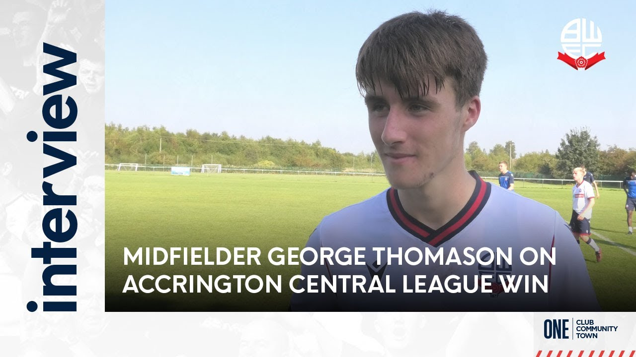 GEORGE THOMASON | Midfielder on Accrington Stanley Central League victory