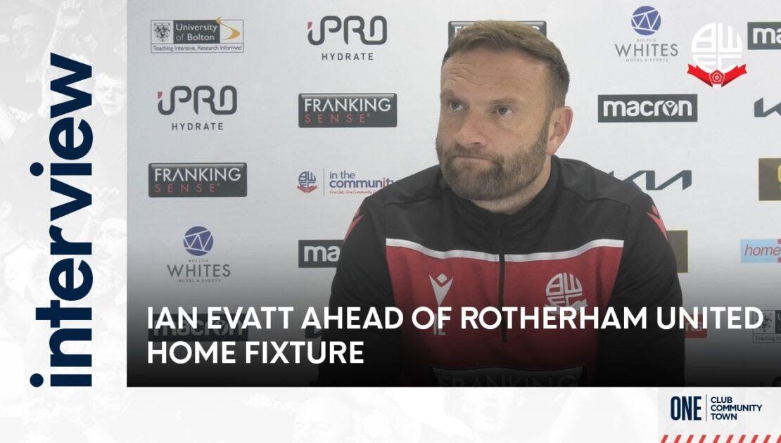 IAN EVATT   Manager ahead of Rotherham United home fixture