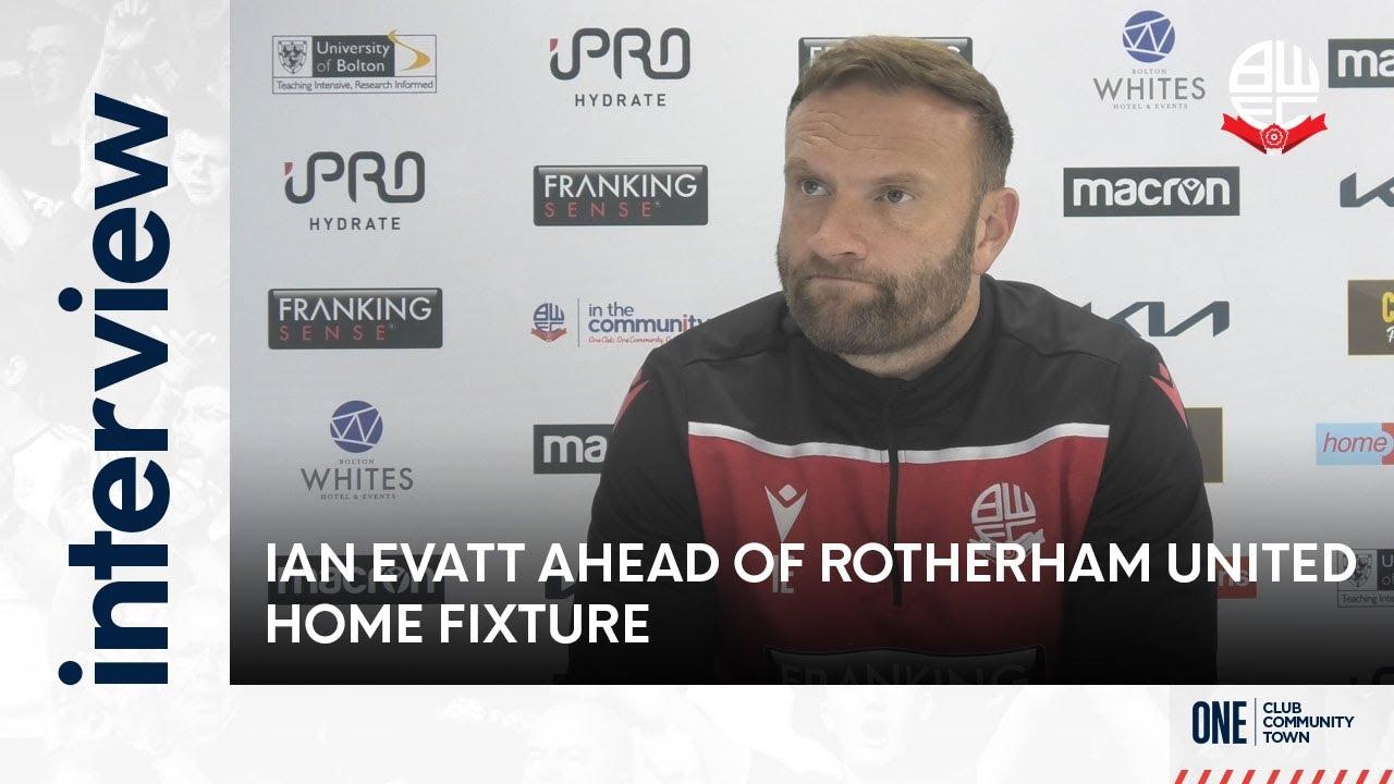 IAN EVATT | Manager ahead of Rotherham United home fixture