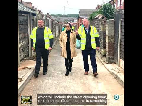 The first Don't Trash Oldham clean up took place on the 1 September