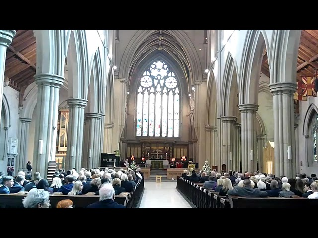 The funeral of Cllr. David Greenhalgh