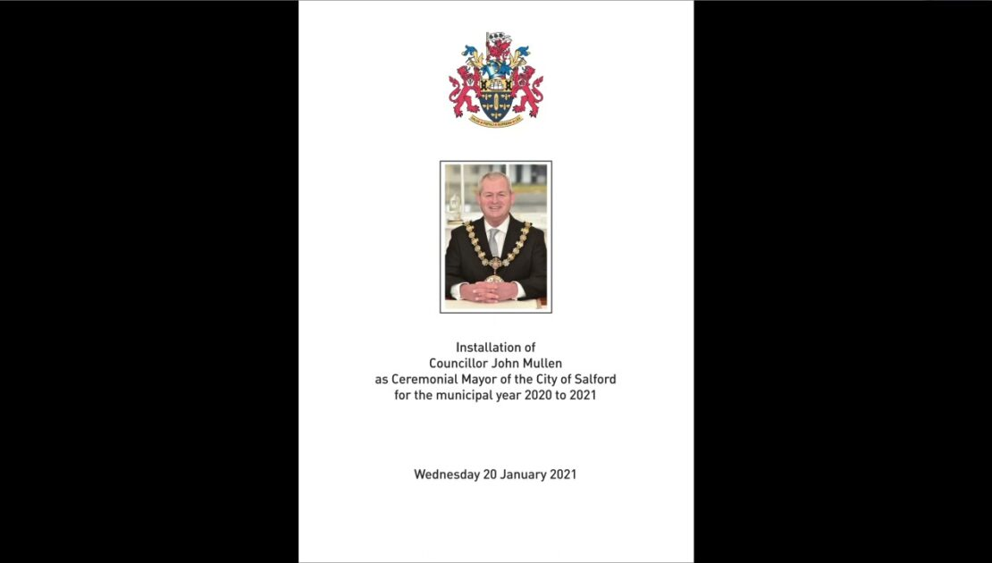Inauguration of the new Ceremonial Mayor of the City of Salford for 2020 to 2021